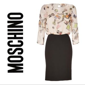 Moschino cheap and chic makeup print dress